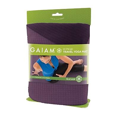 Gaiam® 1.5mm Reversible Travel Yoga Mat, Purple