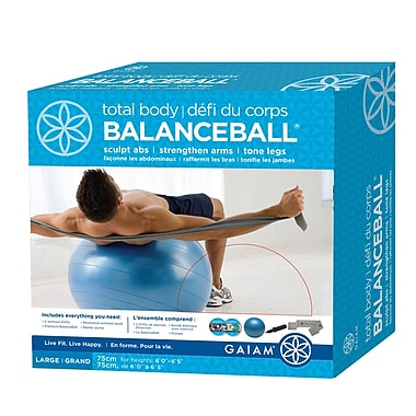Gaiam® 75cm Large Total Body BalanceBall Kit with DVD, Blue