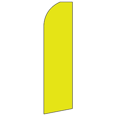 Swooper Banner Kit With Pole & Ground Spike, Yellow