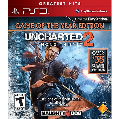 Sony® SNY-98257 Uncharted 2 Among Thieves™ Game Of The Year Edition, Action/Adventure, PS3