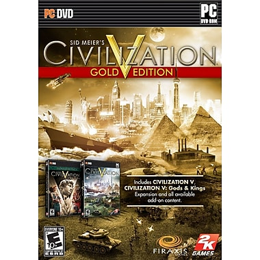 T2™ 2K ROC-41252 Sid Meier's Civilization V Gold Edition, Action Adventure, PC