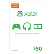 Microsoft® K4W-00002 GC Medialess 50 USD Card For Xbox 360 Live