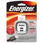 Energizer® 5 W Dual USB Universal Wall Charger, White