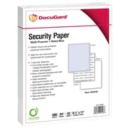 DocuGard® 24 lbs. Advanced 7 Features Multi-Purpose Security Paper, 8 1/2 x 11, Blue, 2500 Sheets