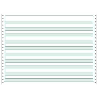 Printworks® Professional Computer Paper W/1/2in. Green Bar, 14 7/8in. x 11in., White, 2200 Sheets