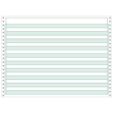 Printworks® Professional Recycled Computer Paper W/1/2in. Green Bar, 14 7/8in. x 11in., White, 2200 Sheets