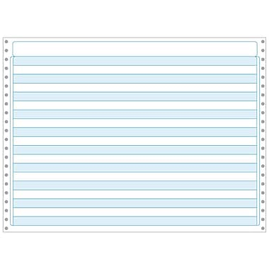 Printworks® Professional Computer Paper W/1/2in. Blue Bar, 14 7/8in. x 11in., White, 2600 Sheets