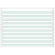 Printworks® Professional 4 Part Computer Paper W/1/2 Green Bar, 14 7/8 x 11, White, 800 Sheets