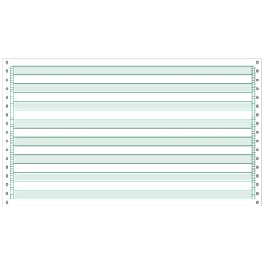 Printworks® Professional Computer Paper W/1/2in. Green Bar, 14 7/8in. x 8 1/2in., White, 3000 Sheets