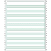Printworks® Professional Computer Paper W/1/2 Green Bar, 9 1/2 x 11, White, 2500 Sheets