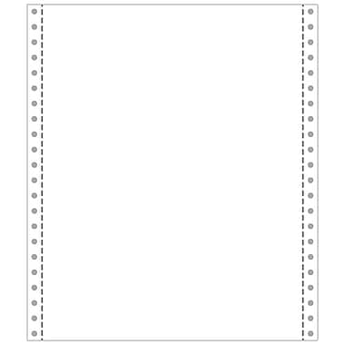 Printworks® Professional 4 Part Blank Computer Paper, 9 1/2in. x 11in., White, 800 Sheets