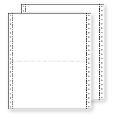 Printworks® Professional 2 Part Blank Computer Paper, 9 1/2in. x 5 1/2in., White, 2800 Sheets