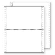 "Printworks® Professional 2 Part Blank Computer Paper, 9 1/2"" x 5 1/2"", White, 2800 Sheets"