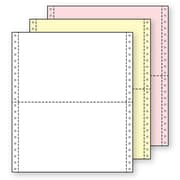 Printworks® Professional 3 Part Computer Paper, 9 1/2 x 5 1/2, White/Canary/Pink, 2000 Sheets