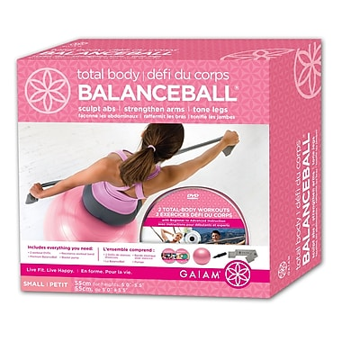 Gaiam® 55cm Small Total Body BalanceBall Kit with DVD, Pink