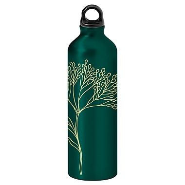 Gaiam® Aluminum Water Bottle with Cap Style 1, 750mL, Twig 2