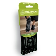 Gaiam® No Slip Yoga Socks, Medium/Large, Grey Grippers