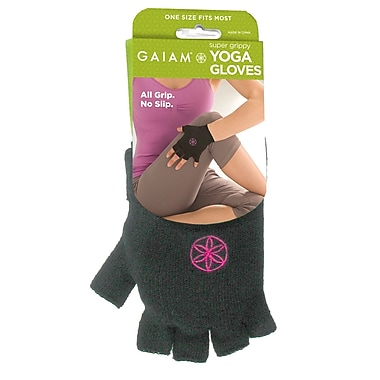 Gaiam® Super Grippy Yoga Gloves, Pink Grippers