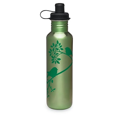 Gaiam® Stainless Steel Water Bottle with Cap Style 1, 750mL, Bird in Hand