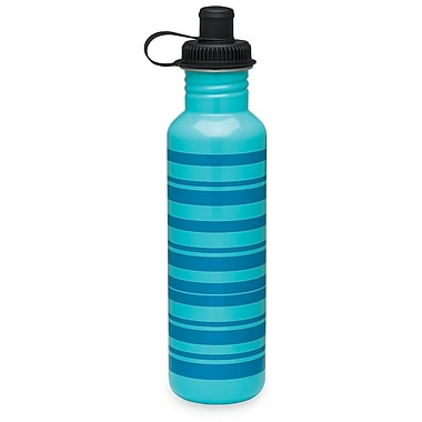 Gaiam® Stainless Steel Water Bottle with Cap Style 1, 750mL, Sky