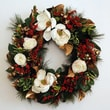 Jane Seymour Botanicals Holiday Classic Magnolia Wreath