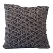 Cloud9 Design Diamond Pleat Velvet Square Pillow; Grey