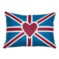 Divine Designs Heart Union Jack 3 Cotton Pillow