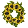 Nearly Natural 22'' Sunflower Wreath
