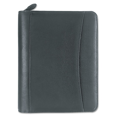 Franklin Covey® Sedona Leather Zipper Organizer Starter Set, Black