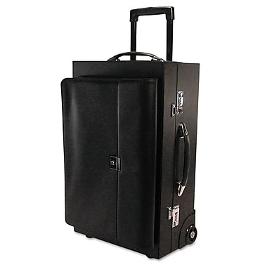 Bond Street® Wheeled Ideal Sample/Catalog Case, Black