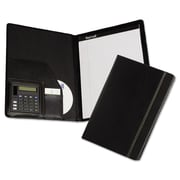 "Samsill® Slimline Padfolio, Leather-Like, 9 1/2"" x 3/4"" x 12 3/8"", Black (71220)"