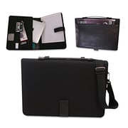 "Bond Street® Tablet iPad Organizer With Writing Pad Fits upto 14"" Tablets, Black"