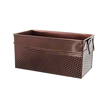 American Metalcraft BEVC1266, 12-1/4'' x 6-1/4'' Third Size Copper Rectangular Beverage Tub