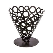 American Metalcraft 6-3/4'' Conical Black Go-Go Basket