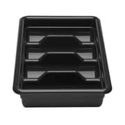 Cambro 1120CBP-110, Four Compartment Cutlery Bus Box - Poly Cambox, Black