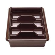 Cambro 1120CBP-131, Four Compartment Cutlery Bus Box - Poly Cambox, Dark Brown