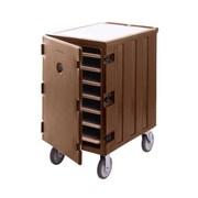 Cambro 1826LTC3-131, Front-Load Sheet Pan & Tray Cart - Camcart, Dark Brown