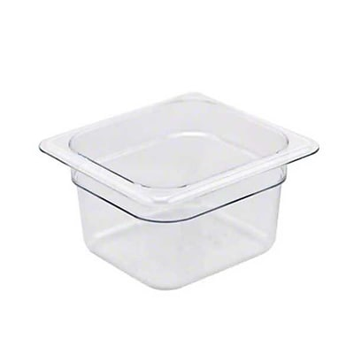 Cambro 64CW-135, 2 Qt Sixth-Size Food Pan - Camwear, Clear 457769