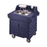 Cambro KSC402-186, 41'' Portable Hand Sink Cart - CamKiosk, Navy Blue