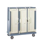Cambro MDC1411T60-401, 60-Shelf Polyethylene Meal Delivery Cart, Slate Blue