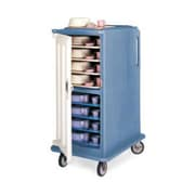 Cambro MDC1418T16-401, 16-Shelf Polyethylene Meal Delivery Cart, Slate Blue