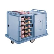 Cambro MDC1520S20-401, 20-Shelf Polyethylene Meal Delivery Cart, Slate Blue