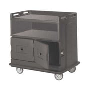 Cambro MDC24F-191, 30'' Polyethylene Beverage Service Cart, Granite Gray