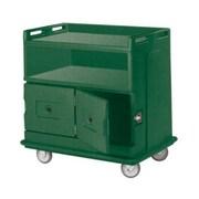 Cambro MDC24F-192, 30'' Polyethylene Beverage Service Cart, Granite Green