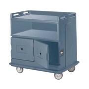Cambro MDC24F-401, 30'' Polyethylene Beverage Service Cart, Slate Blue
