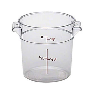 Cambro RFSCW1135, 1 qt Polycarbonate Food Storage Container - Camwear Round 416124