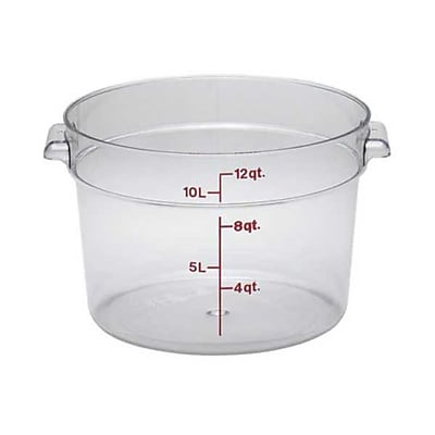 Cambro RFSCW12, 12 qt Polycarbonate Food Storage Container - Camwear Round 444165