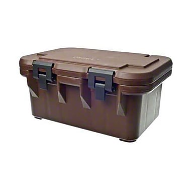 Cambro UPCS180-131, Top-Load Food Pan Carrier - Ultra Pan S-Series, Dark Brown