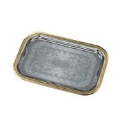 Carlisle 20-5/8'' Celebration Rectangular Trays with Gold Borders