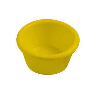Carlisle 1-1/2 oz Melamine Ramekin, Honey Yellow 452627